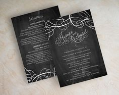 Black and white, modern wedding invitation, contemporary wedding invitations, abstract swirls, modern wedding invitations, chalkboard wedding invitation, Jamie. By appleberryink, $1.00