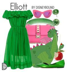 """Elliott"" by leslieakay ❤ liked on Polyvore featuring Valentino, Paule Ka, Isabel Marant, STELLA McCARTNEY, Nina, disney, disneybound and disneycharacter"