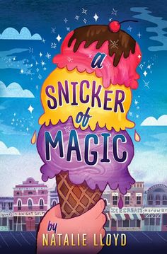 A Snicker of Magic by Natalie Boyd.  Felicity has lived in six different states in her 12 years and collected words  in every one.  She sees words everywhere: in church eves, tangled in her dog's ears, and floating above her sister's head. It isn't until she arrives in Midnight Gulch (a formerly magical town) that she first sees the word HOME.
