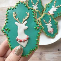 """New cookie tutorial on the blog at SweetAmbs.com! There's a reindeer template, too! {Link in bio} Who saw these on Snapchat already? …"""