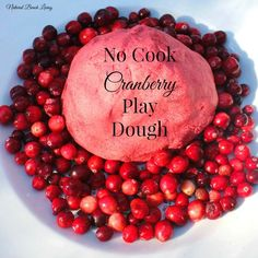 Easy Homemade Christmas Cranberry Play Dough, natural sensory play www.naturalbeachliving.com