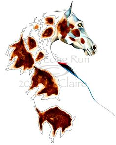 Appaloosa Horse Buffalo Art Painting Print Jill by JillClaireArt, $28.00