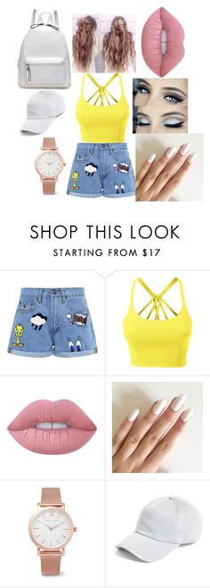 """Untitled #2"" by isobelnolan ❤ liked on Polyvore featuring Paul & Joe Sister, LE3NO, Lime Crime, Larsson & Jennings, rag & bone, jeanshorts, denimshorts and cutoffs"
