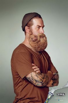 LOL. The hipster beard trend is so gross.  A Razor Brand is Trying to Dispel the 'Sexy Beard' Myth with Ads Showing Rodents Clinging to Men's Faces
