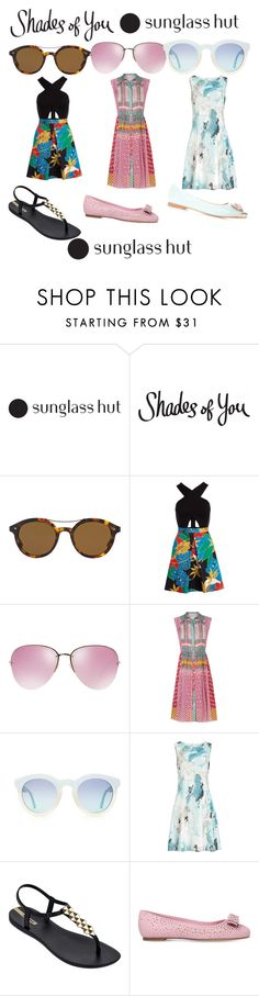 """Shades of You: Sunglass Hut Contest Entry"" by aworley625 ❤ liked on Polyvore featuring Giorgio Armani, Alice + Olivia, Miu Miu, Diane Von Furstenberg, Reiss, IPANEMA, Salvatore Ferragamo and shadesofyou"