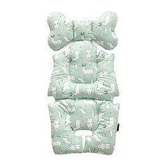 Baby Breathable 3Dimensional Air Mesh Organic Cotton Seat Liner for Stroller  Car Seat Animal Mint ** Continue to the product at the image link.-It is an affiliate link to Amazon.