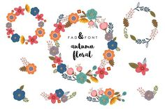 Autumn Floral Bundle by Fadandfont on @creativemarket