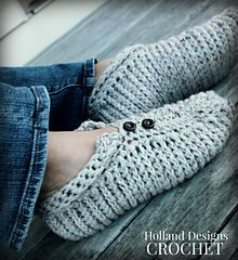 chunky crochet slippers on ravelry