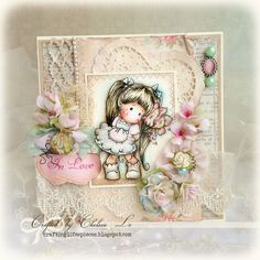 Crafting Lifes Pieces: CLP-55 Tilda with Love - Magnolia Card