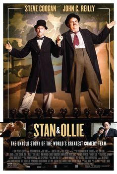 """Get Stan & Ollie DVD and Blu-ray release date, trailer, movie poster and movie stats. In the and Stan Laurel and Oliver Hardy were one of the most popular comedy acts in movies, helplessly bumbling their way through one """"fine mess"""" after. Stan Laurel, Hindi Movies, New Movies, Movies Online, 2018 Movies, Prime Movies, Movies Box, Movies Free, Watch Movies"""