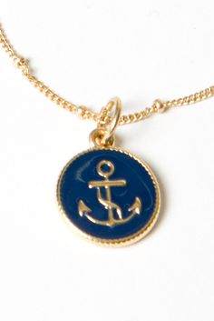 Where was all this cute nautical stuff when I was in college?   Nautical Coin Necklace