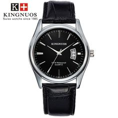 Features and specifications: Dial - Shape: Round - Movement type: Quartz - Display type: Pointer - Pointer color: Silver - Dial color: Black, white, brown, blue Band - Material: Stainless Steel/leather - Clasp type: Folding clasp - Band color: Silver/black, brown Watch - Length: approx. 240 mm - Dial diameter: approx. 40.5 mm - Dial thickness: approx. 9 mm - Weight: approx. 90 g Package : 1 x watch Mens Sport Watches, Luxury Watches For Men, Bracelet Cuir, Business Fashion, Bracelets, Mens Fashion, Gold Fashion, Fashion Wear, Sunglasses