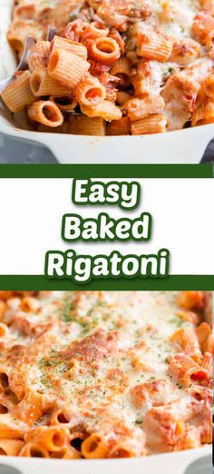 Italian sausage is tossed with a homemade pasta sauce and rigatoni for a simple yet satisfying pasta dish! The baked rigatoni is comfort food for all of us, pasta lovers!