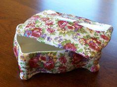 Antique Royal Winton Summertime Floral Chintz Candy Trinket Box