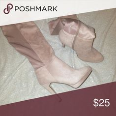 Never worn! Knee-high boots Shoe dazzle pinkish-beige, Knee-high boot. Shoe Dazzle Shoes Heeled Boots