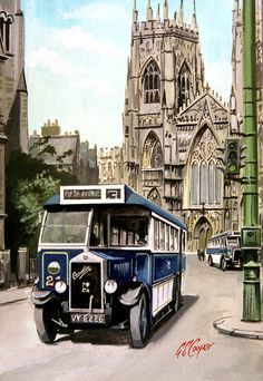The showcase site for the creative work of WD, GS, and DP Cooper Road Transport, Public Transport, Classic Trucks, Classic Cars, Automobile, Old Lorries, Vintage Illustration Art, York Minster, Airplane Photography