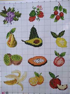 123 Cross Stitch, Cross Stitch Fruit, Cross Stitch Kitchen, Beaded Cross Stitch, Cross Stitch Borders, Cross Stitch Flowers, Chain Stitch, Cross Stitch Designs, Cross Stitching