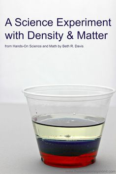 Simple and Easy Density Science Experiment to do with kids!