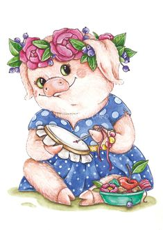 Clip Art Pictures, Animal Pictures, Pig Drawing, Pig Illustration, Pig Art, This Little Piggy, Cross Stitch Animals, Illustrations And Posters, Farm Animals