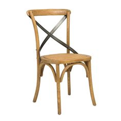 Cross Back Natural Dining Chair