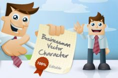 Great and versatile pack of 14   cartoon business man characters. Ideal to  illustrate any product,  services or...