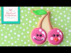 ▶ How to make Kawaii cherry cookies - How to decorate cherry cookie - YouTube