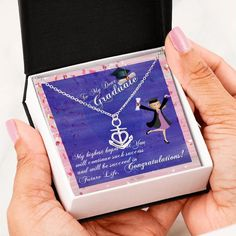 To My Graduate, Graduate Gift, Personalized Graduation gift, High Scho – Shiny Jewelry Charm High School Graduation, Graduate School, Personalized Graduation Gifts, Personalized Items, Graduation Necklace, Senior Gifts, Bottom Of The Ocean, Anchor Charm, Anchor Necklace