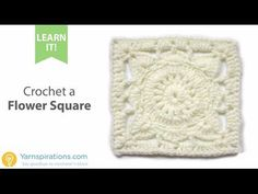 How To Crochet a Flower Square - YouTube