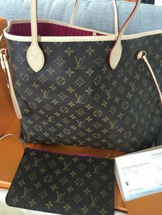 009ac2e057 Brand New   authentic Louis Vuitton Neverfull GM Monogram Pivoine Interior  2018  fashion  clothing