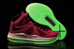 Cheap Fireberry Pink Womens Nike Lebron X Glow-in-the-Dark Sole