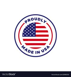 Made in usa american flag round icon vector image on VectorStock Vector Icons, Vector Free, Water Drop Vector, Lightning Logo, Smile Icon, Sparkles Background, Fruit Icons, Brand Icon, Halftone Pattern