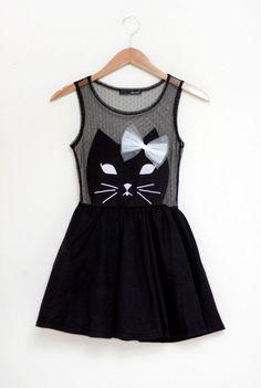 black cat dress. cute!