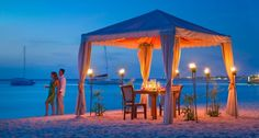 So romantic! Table for two : )  #Aruba