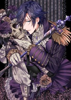 Uta No Prince-sama- Tokiya Ichinose. I actually don't know what this is, but I like the skeleton