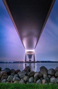 Beneath the bridge by Khanh Nguyen on 500px, Denmark, Middelfart, Little belt bridge