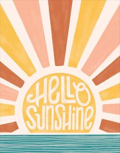 great names Hello sunshine! Wake up to a gorgeous sunrise over the water every morning with this design.<br><br>Designed right here at Paper Source.<br>Printed on Mohawk superfine white 13 Collage Mural, Bedroom Wall Collage, Photo Wall Collage, Wall Art Collages, Mural Art, Quote Collage, Wall Collage Decor, Bedroom Wall Designs, Photo Collages