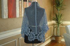 Ravelry: French Blue Shawl DK276 pattern by Cristina Mershon