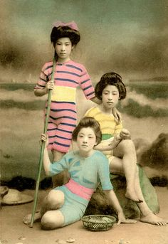 Okinawa Soba has a Flickr set of lovely 100-year-old photographs of Japanese women, believed to be Geisha or Maiko