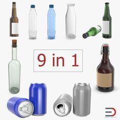 Bottles Collection 4 3D model