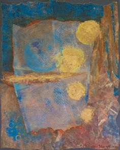 "Transformation: Intuitive Knowing, Mixed media: acrylic collage on panel, 16"" x 20"", $600 http://www.christinemartell.com"