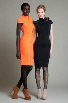Byron Lars Beauty Mark Scuba Dress available in orange, red or black. Super fitted and super sexy!