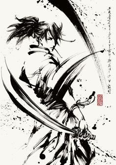 I seriously fancy the tints, lines, and detail. This is certainly a brilliant tattoo design if you want inspiration for a Ninja Kunst, Arte Ninja, Ninja Art, Samurai Drawing, Samurai Artwork, Samurai Tattoo, Ronin Tattoo, Ink Illustrations, Illustration Art