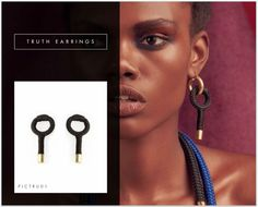 Truth earrings: Inspired by the universal symbols for womanhood, these earrings honor the ancient verities of femininity.   PICHULIK A/W16 Truth earrings  Buy Online:http://www.pichulik.com/shop