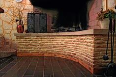 """#Caminetto rivestito con il nostro #Murostampato, effetto """"pietra antica"""" per un ambiente caldo ed accogliente. #livingroom #design #warm"""