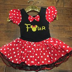 Minnie Mouse birthday outfit  birthday by SewFancyStore on Etsy