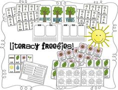 Amazing freebies for math, literacy and poetry all based around plants