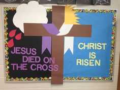 Easter Decoration Ideas for Church Lovely Cute Easter Bulletin Board Bulletin Board Ideas Religious Bulletin Boards, Bible Bulletin Boards, Easter Bulletin Boards, Christian Bulletin Boards, Preschool Bulletin Boards, Bullentin Boards, January Bulletin Board Ideas, Christian Preschool, Christian Crafts