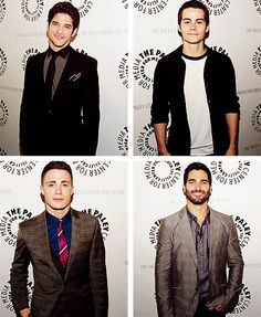 Tyler Posey, Dylan O'brien, Colton Haynes, and Tyler Hoechlin.
