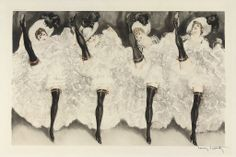 Louis ICART (1888-1950) Can-Can