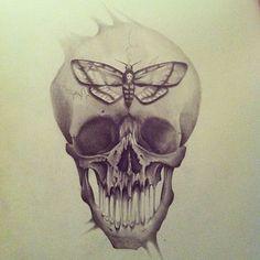 cally jo art - skull